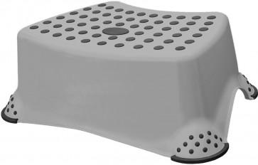Plastový taburet mini, šedý, 40x28x14 cm - POSLEDNÍ KUS