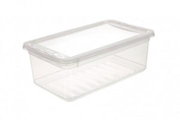Plastový box Basixx 5,6 l, průhledný.