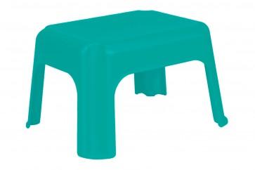 Plastový taburet mořská modř, 36,5x30x24 cm - POSLEDNÍCH 11 KS
