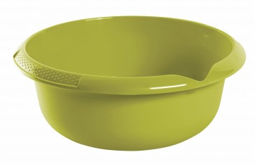 Kulatá miska s výlevkou, zelená, Ø 28 cm - POSLEDNÍCH 7 KS