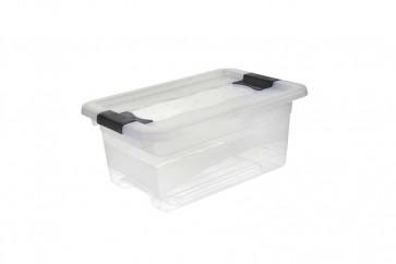 Plastový box Crystal 4 l, průhledný, 29,5x19,5x12,5 cm