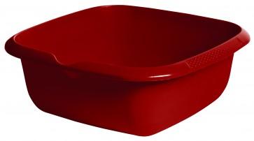Hranatá miska s výlevkou, tmavě červená, 34 x 34 x 12,8 cm - POSLEDNÍCH 10KS
