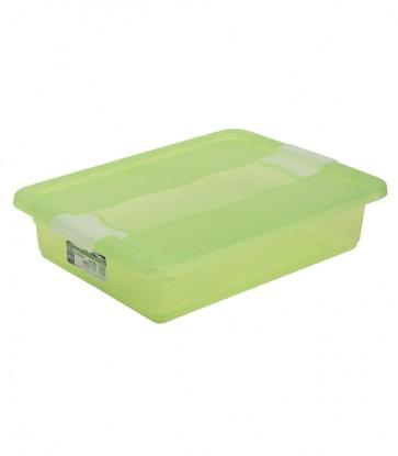 Plastový box Crystal 7 l, svěží zelený, 39,5x29,5x9,5 cm - POSLEDNÍCH 10 KS