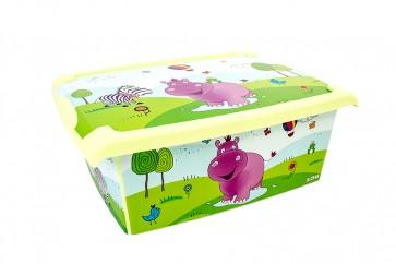 "Plastový box Fashion, ""Hippo"", 39x29x14cm"