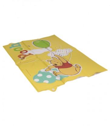 Cestovní dětská přebalovací podložka v žluto medové barvě s motivem Medvídka Pú- 58x40x0,5 cm - POSLEDNÍCH 8 KS
