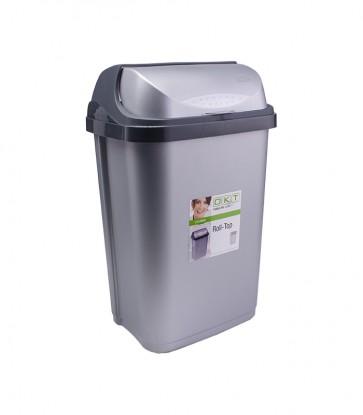 """Odpadkový koš """"Roll-Top"""" 25 l, stříbrný"""
