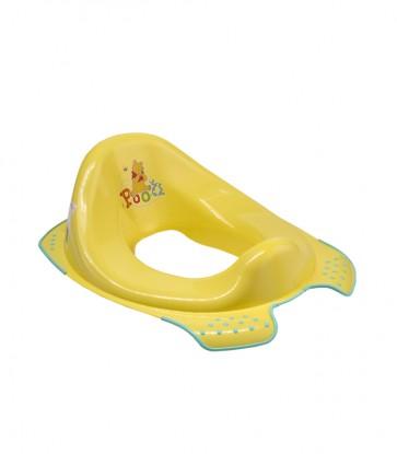 Sedátko na WC v žluto medové barvě s motivem Medvídka Pú - 30x40x15 cm - POSLEDNÍCH 5 KS