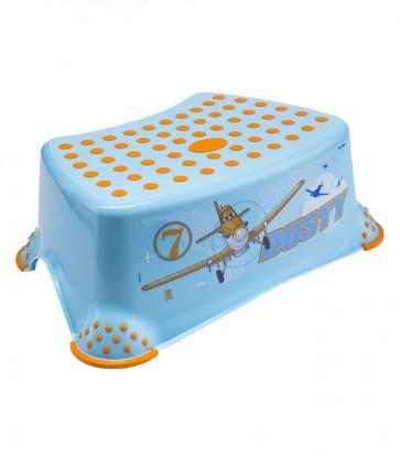 Dětský taburet v modré barvě s motivem Planes - 40x28x14 cm - POSLEDNÍ 2 KS