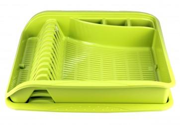 Odkapávač na nádobí, velký, zelený