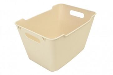 Plastový box LOFT 20 l, krémový, 40x28x25 cm .
