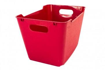 Plastový box LOFT 1,8 l, tmavě červený, 19,5x14x10 cm. POSLEDNÍCH 10 KS