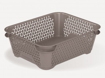 Plastový košík Mirko, A6, šedý, 20x16x7 cm