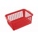 Plastový košík malý červený 25x17x10cm - POSLEDNÍCH 32 KS