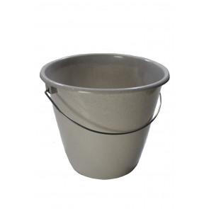 Kbelík s kovovou rukojetí, šedý, 10l - POSLEDNÍCH 10 KS