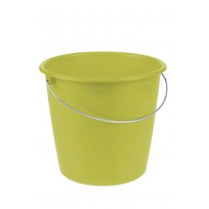 Kbelík s kovovou rukojetí, zelený, 10l