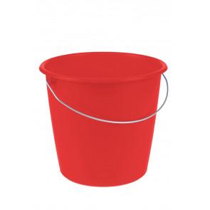 Kbelík s kovovou rukojetí, červený, 10l - POSLEDNÍ 2 KS