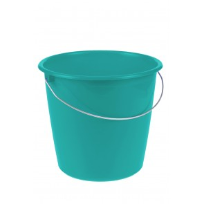 Kbelík s kovovou rukojetí, modrá modř, 10l - POSLEDNÍCH 5 KS