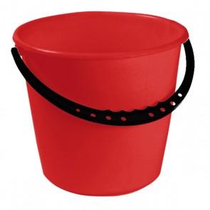 Kbelík s plastovou rukojetí, červený, 10l - POSLEDNÍ 3 KS