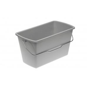 Hranatý kbelík s kovovou rukojetí, mramor, 14l