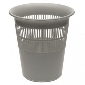 Odpadkový koš na papír, Ø 29 cm, stříbrný