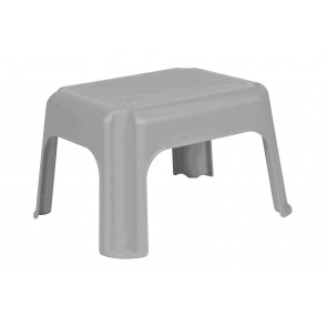 Plastový taburet stříbrný, 36,5x30x24 cm