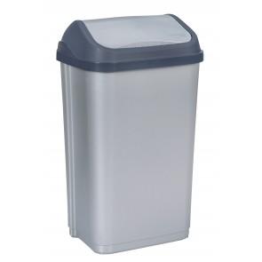 """Odpadkový koš """"Swing-Bin"""" 50 l, stříbrný"""