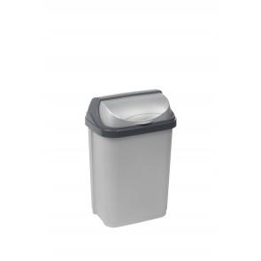 """Odpadkový koš """"Roll-Top"""" 10 l, stříbrný"""