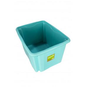 Plastový box Colours, 30 l, modrý s víkem