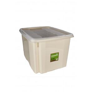Plastový box Colours, 30 l, krémový s víkem