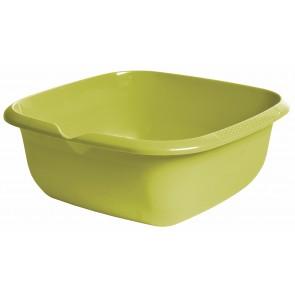 Hranatá miska s výlevkou, zelená, 38 x 38 x 15 cm - POSLEDNÍCH 6 KS