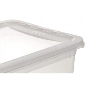 Plastový box Basixx 8 l, průhledný.