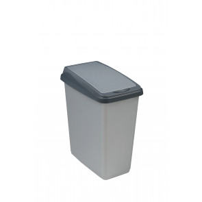 """Odpadkový koš """"Slim-Bin"""" 25 l, stříbrný"""