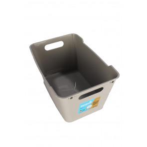 Plastový box LOFT 6 l, šedý ,  29,5x19x15 cm