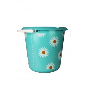"""Plastový kbelík Fashion """"Kopretina"""", 30x28 cm, Objem 10l."""