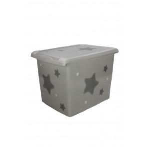 """Plastový box Fashion, """"Hvězda"""", 39x29x27cm"""