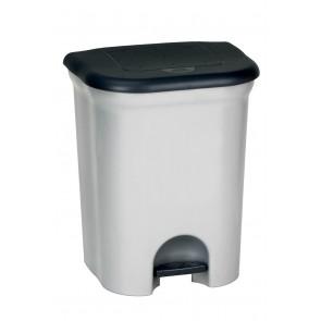"""Odpadkový koš """"Step&Close PLUS"""" 28 l, stříbrný - POSLEDNÍ 2 KS"""