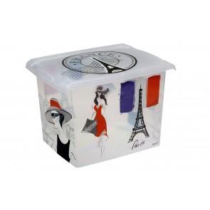 """Plastový box Fashion, """"FRANCE"""", 39x29x27cm - POSLEDNÍCH 5 KS"""