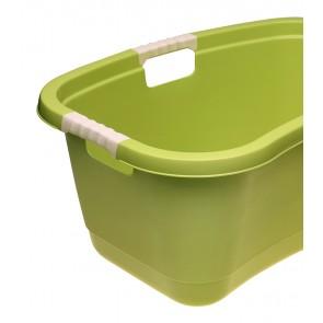 Ergonomický koš na prádlo s měkkým úchytem, 49 l, zelený - POSLEDNÍCH 6 KS