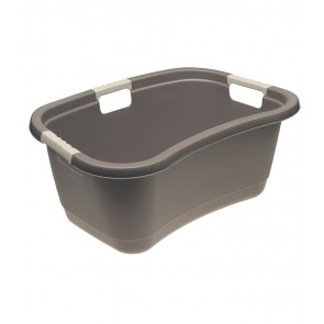 Ergonomický koš na prádlo s měkkým úchytem, 49 l, šedý - POSLEDNÍ CH 8 KS