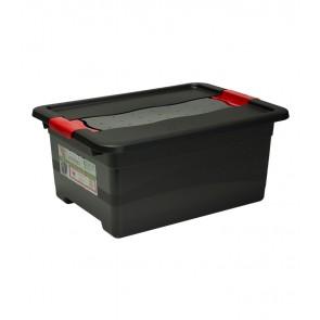 Plastový box Crystal – SOLIDO 12 l, grafit -POSLEDNÍCH 11 KS