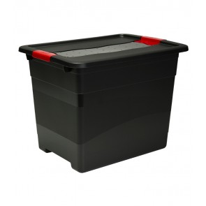 Plastový box Crystal – SOLIDO 24 l, grafit