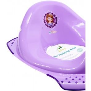 Sedátko na WC ve fialové barvě s motivem