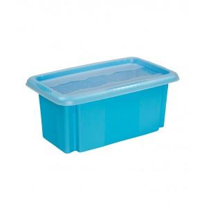 Plastový box Colours, 7 l, modrý s víkem POSLEDNÍCH 8 KS