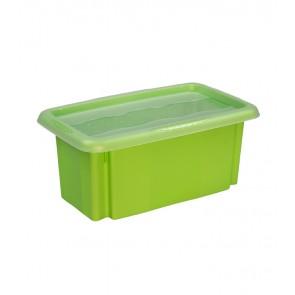 Plastový box Colours, 7 l, zelený s víkem POSLEDNÍCH 7 KS