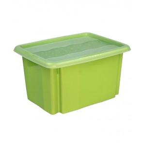 Plastový box Colours, 15 l, zelený s víkem