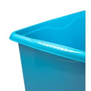 Plastový box Colours, 15 l, modrý s víkem POSLEDNÍCH 23 KS