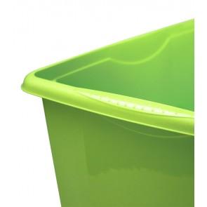 Plastový box Colours, 45 l, zelený s víkem POSLEDNÍCH 6 KS
