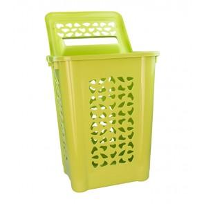 Vysoký koš na prádlo, 60 l, zelený - POSLEDNÍCH 2 KS