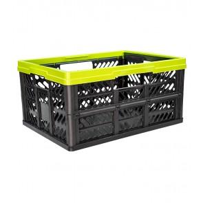 Plastový skládací box, malý, zelený, 47x34x23 cm