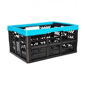 Plastový skládací box, malý, modrý, 47x34x23 cm